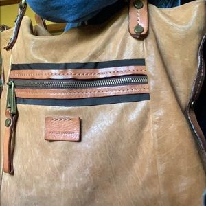 Large genuine leather Marco Buggiani bag